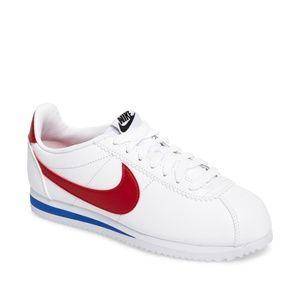 Classic Cortez Sneaker W Sz 9 White/Varsity Red
